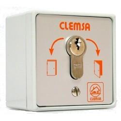 Selector CLEMSA de apertura y cierre en caja metal 75x75x50mm. Modelo MC104