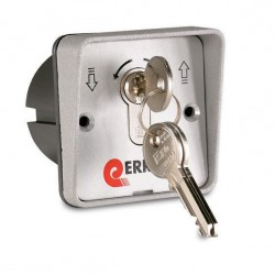 Selector de aluminio de empotrar 2 C y cilindro europeo SEEM ERREKA