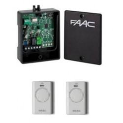 Kit Receptor FAAC XR2 433mhz externo+ 2 Mandos  FAAC BLANCO XT2. Frecuencia 433Mhz. 2 Canales.