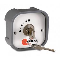 Selector de plástico de superficie con llave 1 contacto SELS-001