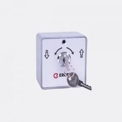 Selector ERREKA SL01 de aluminio,de superficie , 2 contactos (NO/NC)