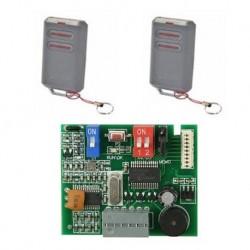 Kit ERREKA 2 Mandos IRIS 2 canales 433mhz + Receptor externo IRIN2S-250 de frecuencia 433mhz