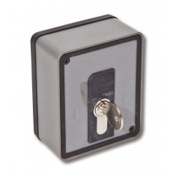 Selector PUJOL de llave WALLKEY KS de 2 Posiciones. Modelo PACERR0210. Selector con Cilindro Europeo.